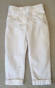 BNWOTS-NEXT-Baby-Girls-Boys-White-Cotton-Casual-Trousers-18-24-months