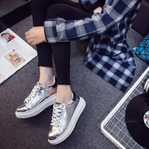 Womens-Sports-Sneakers-Patent-Leather-Casual-Shoes-Running-Athletic-Shoes-New
