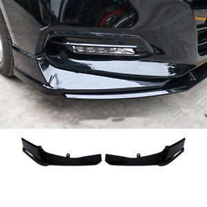 2pcs-For-Honda-Accord-2018-2019-Front-Bumper-Both-Side-Lip-Molding-Trims-Black