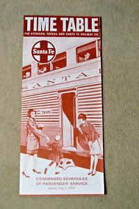Santa-Fe-Condensed-Timetable-July-1-1970