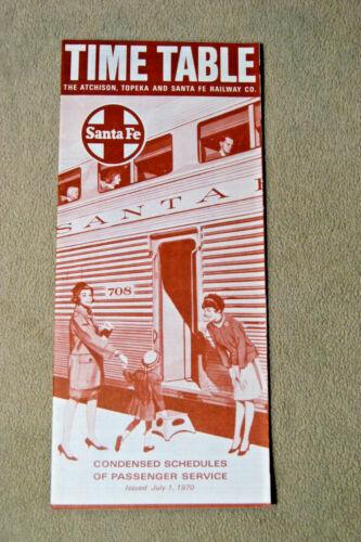 Santa Fe Condensed Timetable July 1 1970