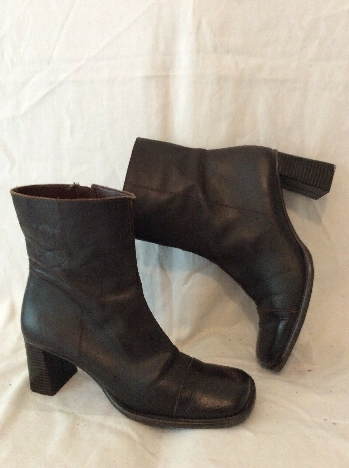 Moshulu Colours Brown Ankle Leather Boots Size 39