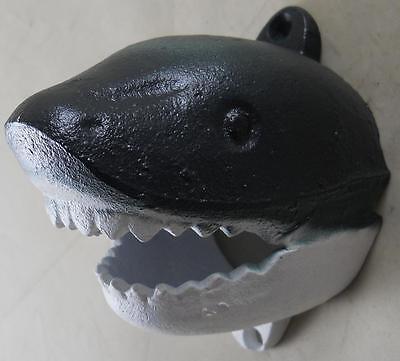 Cast Iron Wall Mounted Shark Bottle Opener - Kitchen Pub Bar Beer Opener Bars