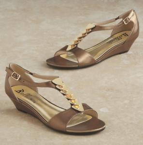 Bellini Mitzy Wedge Sandals Bronze NEW NIB Size 8.5M