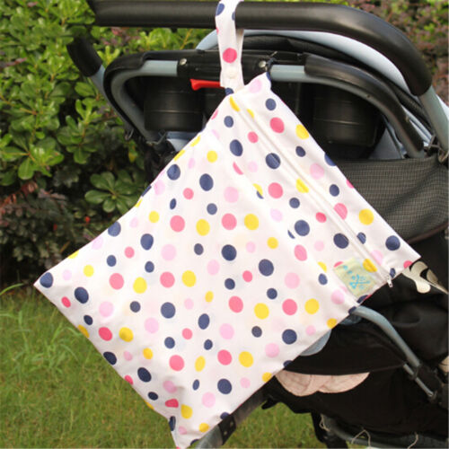 Baby Protable Nappy Washable Nappy Wet Dry Cloth Zipper Waterproof Diaper Bag XJ