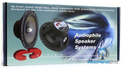 """CDT AUDIO HD-6MDVC 6.5/"""" 70W RMS DUAL VOICE COIL MID-BASS CAR SPEAKERS NEW PAIR"""