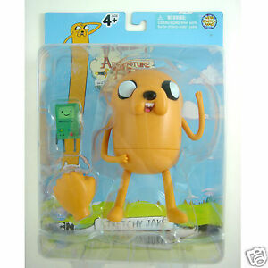 LATEST-Adventure-Time-With-Finn-amp-Jake-Stretchy-Jake-5-034-Action-PVC-Figure-In-Box
