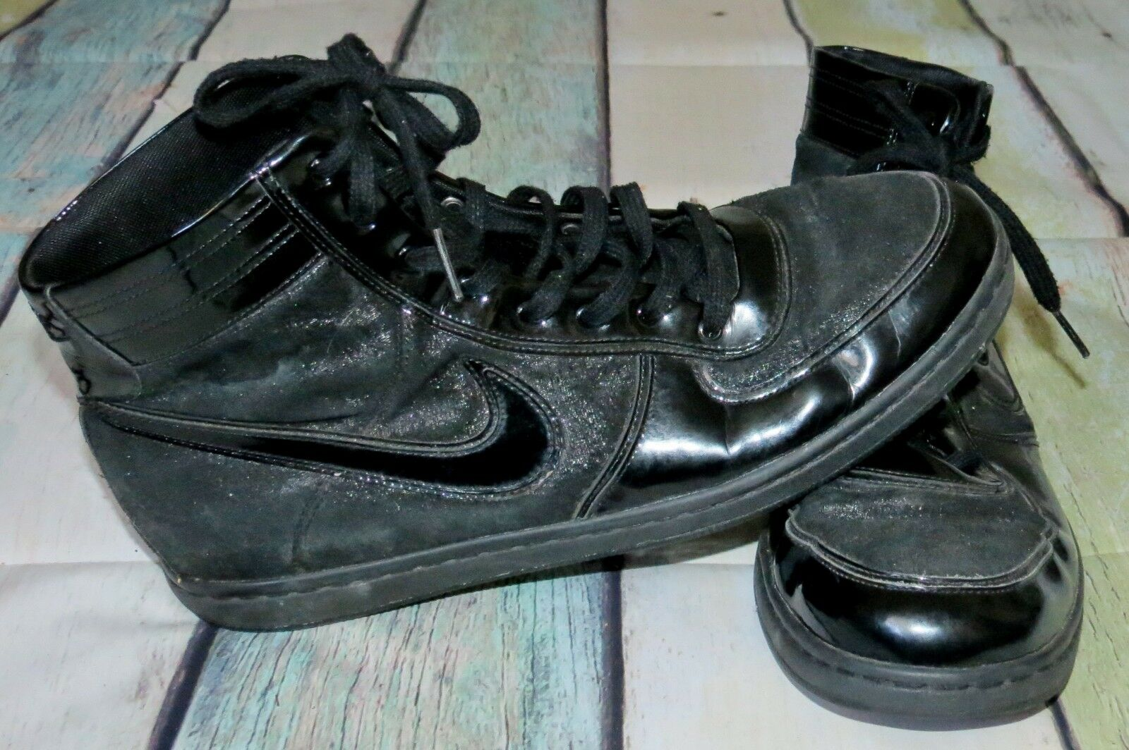Womens Nike Air Scandal Mid Black Sail Glitter Shimmer High Hi Top shoes Sz 10