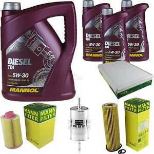 Motor-aceite-8l-MANNOL-diesel-TDI-5w-30-Mann-Filter-Mercedes-Sprinter-35-906
