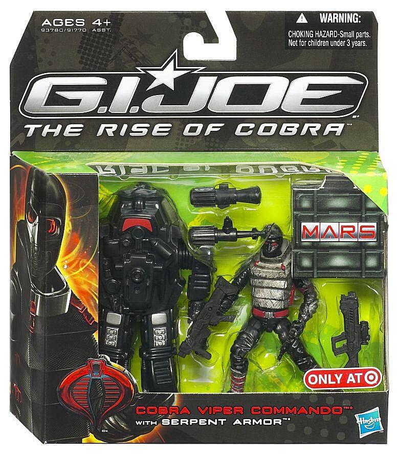 GI JOE The Rise of Cobra__COBRA VIPER COMMANDO figure w  SERPENT ARMOR_Exclusive