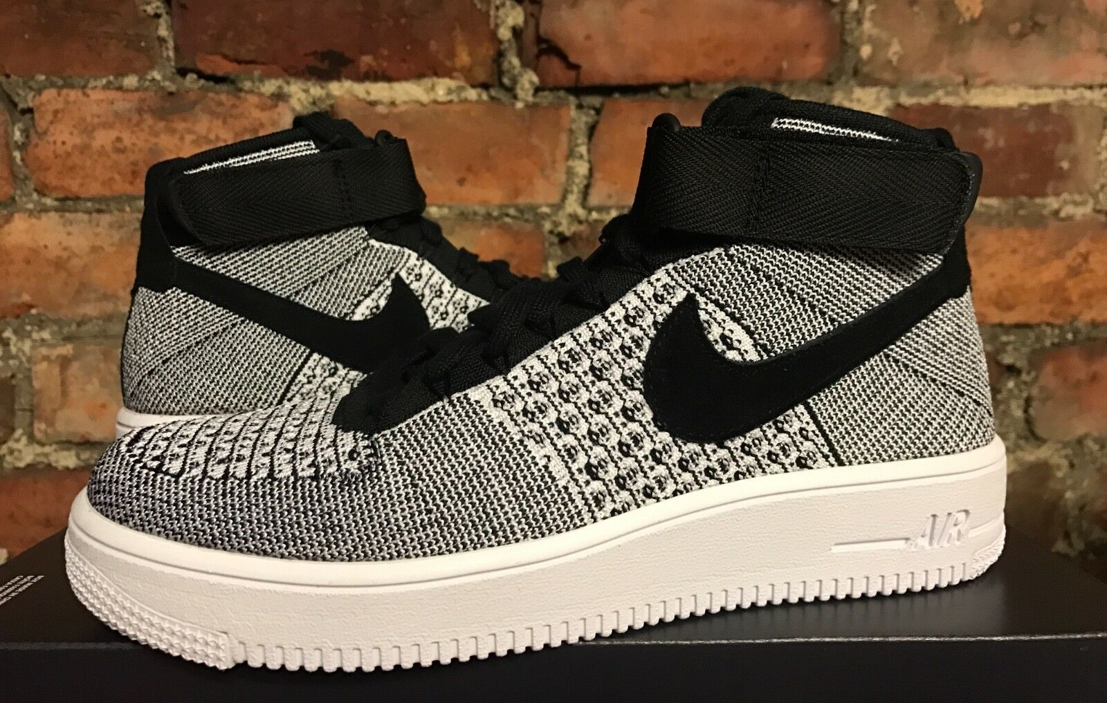 NIKE AIR FORCE FLYKNIT 1 ULTRA FLYKNIT FORCE MID UK6.5 US7.5 EUR40.5 BLACK WHITE 817420 005 4d88cf