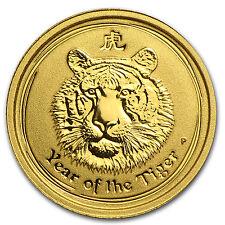 2010 1/20 oz Gold Lunar Year of the Tiger BU (Series II) - SKU #54866