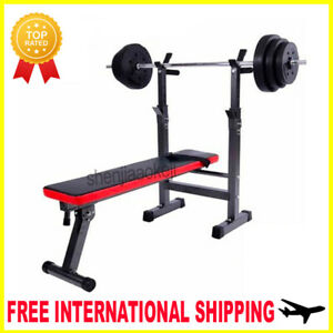 Fitness Bench Weight Lifting Gym Multifunction For Abdominal Dumbell Barbell New Ebay