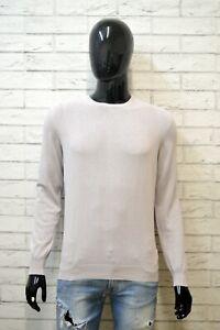 FAY-Uomo-Maglione-Taglia-Size-46-Pullover-Cardigan-Maglia-Grigio-Sweater-Man-Top