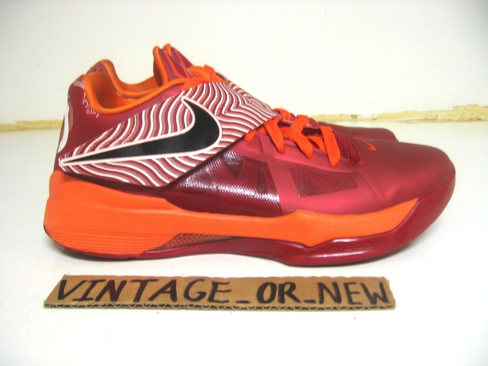 Nike zoom kd iv id 4 virginia yotd anno del drago virginia 4 tech hokies sz 9,5 nerf 7 0c5dd8