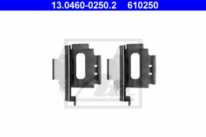 Scheibenbremsbelag für Bremsanlage Vorderachse ATE 13.0460-0250.2 Zubehörsatz