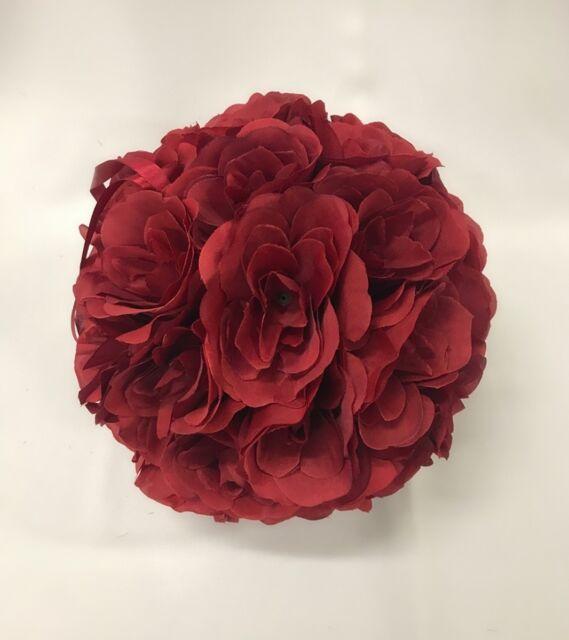 "10/""//25cm Flower Kissing Ball Wedding Silk Rose Balls Party Pomander Home Decor"