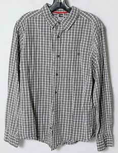 36ae304c424 The North Face Men s Green-Gray Plaid Long-Sleeve Hiking Camp Shirt ...