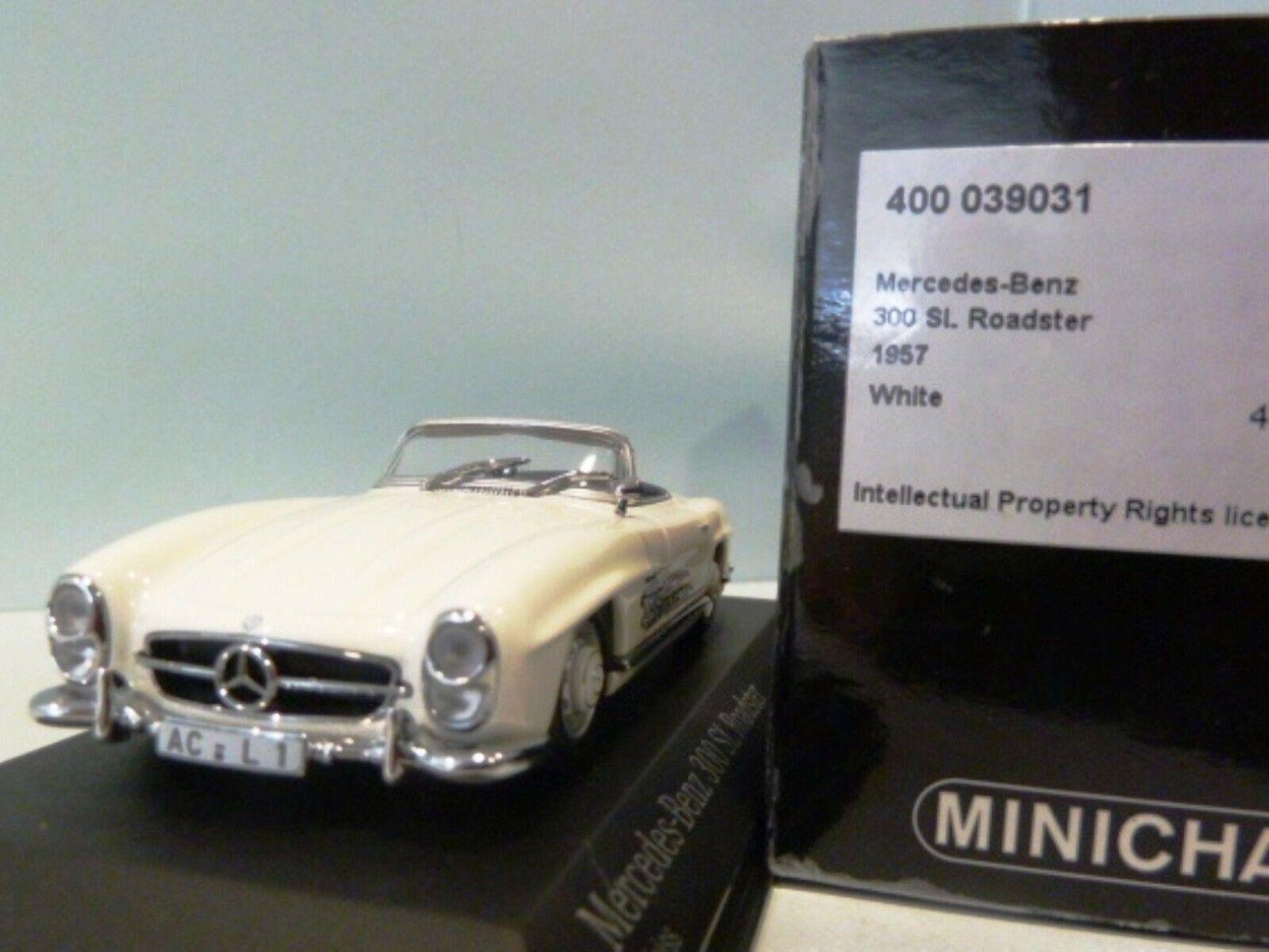 WOW estremamente 300SL raro MERCEDES W198 300SL estremamente Roadster 1957 Bianco 1 43 Minichamps - 200 eafc7d