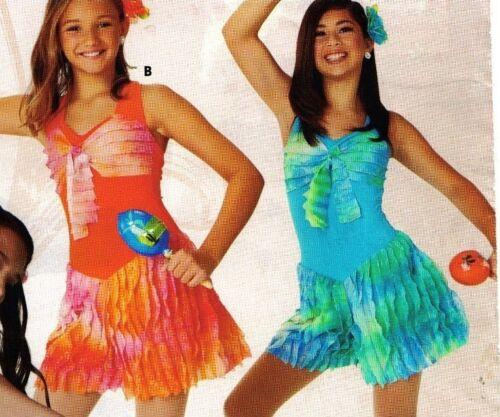 NWT Dance Costume Latin Flair Skort Dress 2 colors offrd Ch//ladies tap romper