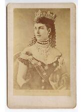 QUEEN ALEXANDRA/LONGEST-SERVING PRINCESS OF WALES 1863, CABINET PHOTO