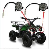 1 Pair Atv Go Kart Bike Led Head Light Headlight Lamp 47 49 60 80cc Taotao Sunl