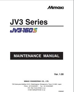 mimaki jv3 130s jv3 160s service manual wide format printer rh ebay com au  mimaki jv3 160 sp service manual pdf
