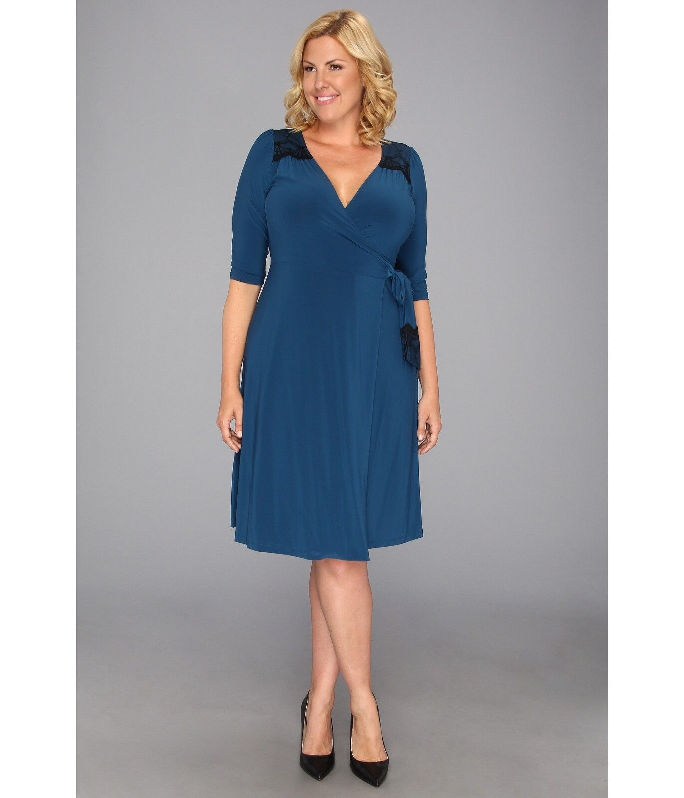 NWT Beautiful Plus Size Julieanne Wrap Dress by Kiyonna, 1X