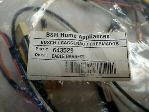 bosch thermador wire harness 00643529 643529 ap4298273 ps8729954 rh ebay com Wire Harness Schematic Wire Harness Assembly