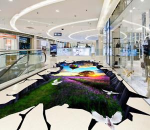 Globo De Lavanda 3D 6 Impresión De Parojo Papel Pintado Mural de piso 5D AJ Wallpaper Reino Unido Limón