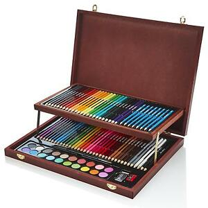 Artworx Artists Wooden Art Case Colouring Pencils Painting Set Childrens Adults 5060522530053 Ebay