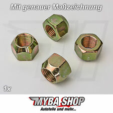 1x Radmutter Kegelbund M14 x 1,5 x 16 mm Felgen Radmutter für Ford #NEU#