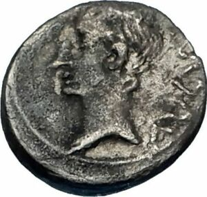 AUGUSTUS-25BC-Emerita-Spain-Quinarius-Ancient-Silver-Roman-Coin-VICTORY-i65611