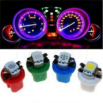 15/20PCS T5 T8.4D 5050 1-SMD Car LED Dashboard  Instrument Indicator Lights Bulb