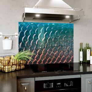 Splashback En Verre Cuisine Cuisinière Rainbow Fish Scale Fermer Toute Taille 0488-afficher Le Titre D'origine Dissipation Rapide De La Chaleur