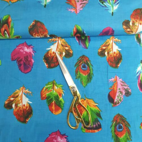 100/% Cotton Indian Printed Floral Soft Summer Dress Material Fabric 112cm Wide