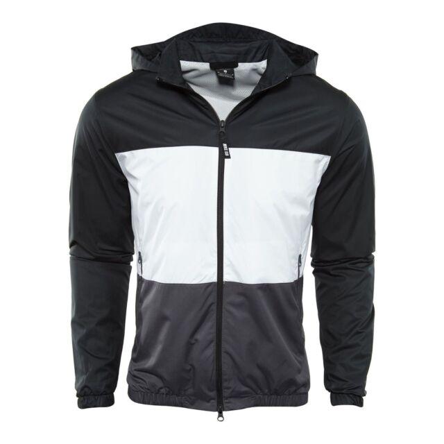Nike Men/'s Sportswear Anorak Half-Zip Jacket Black White AJ1404-010 Size M