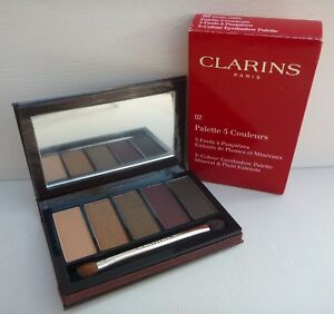 1x-CLARINS-5-Colour-Eyeshadow-Palette-02-Pretty-Night-Brand-New-in-Box
