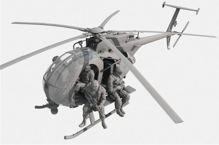 Kitty Hawk KH50004 1/35 AH-6J/MH-6J Little Bird w/Figures