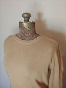 Forever-21-Women-039-s-Basic-Crew-Neck-Sweater-Beige-Size-M-Medium