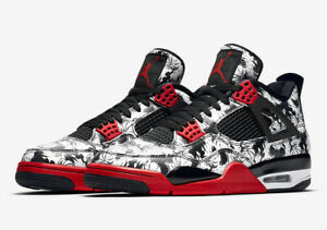 a88c5579c964 Nike Air Jordan Retro 4 Singles Day Tattoo BRED White BQ0897-006 ...