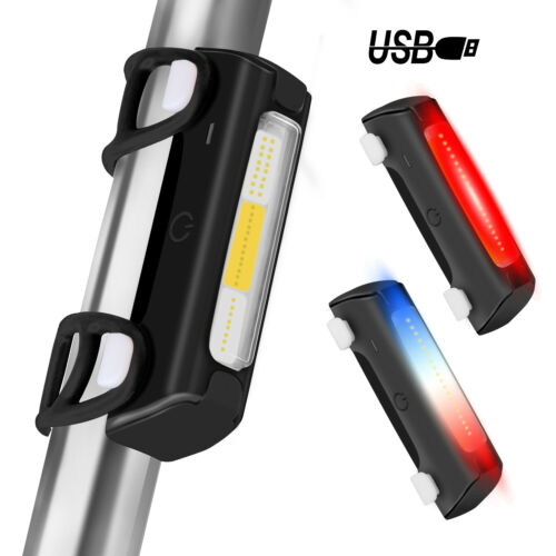 Front Head Light USB Rechargeable LED Night Safety Bike Lamp Bicycle Rear Tail