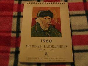 Calendario 1960.Details About Calendario 1960 Archifar Laboratories Milan Italy 1960