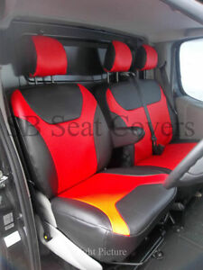 Image Is Loading VAUXHALL VIVARO SPORTIVE 2010 VAN SEAT COVERS RED
