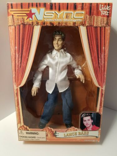 NSYNC Collectible Marionette Lance Bass New in Box Boy Band Timeless Toys New