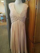 light in the box dress peach sleeveless tea length bust 46 waist 36
