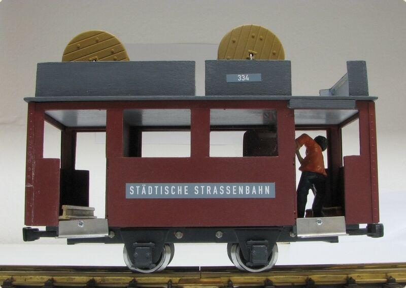 LGB linea di guida auto tram modello unico autocostruzione