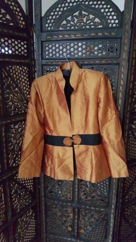 Soie Iridescent Blazer Khaisilk Taille Golden Medium rApwrH