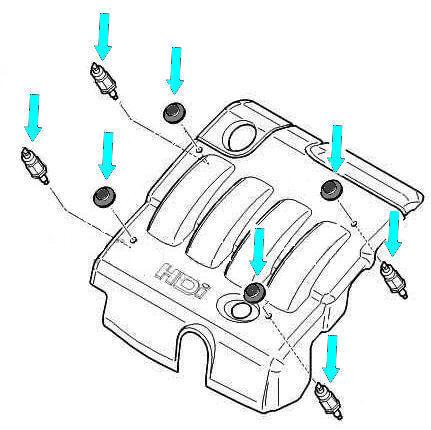 C5 Diesel Engine Top Cover Securing Kit C8 Berlingo Citroen Xsara Picasso