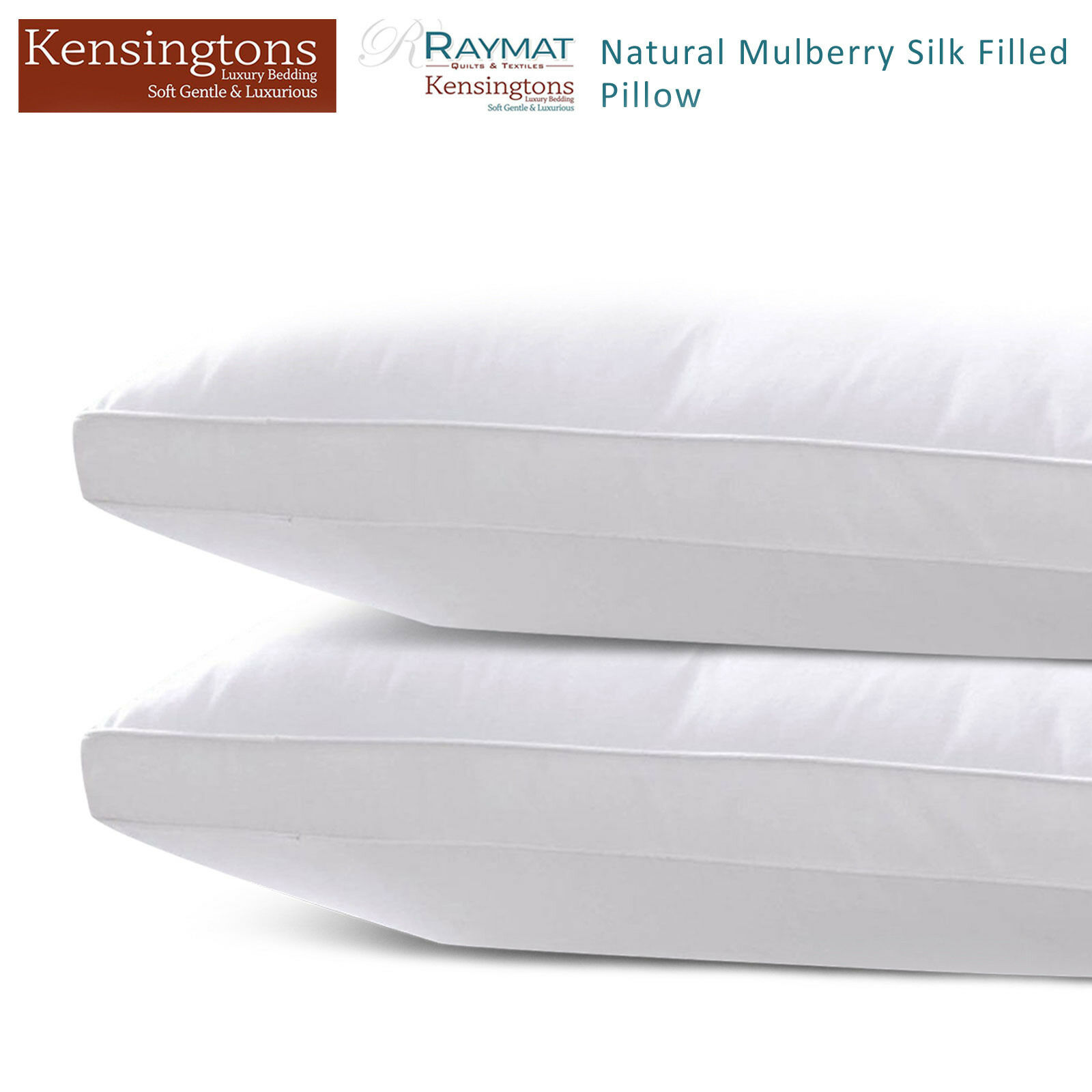 100% Soft Silk Mulberry Pillow 400 TC Filled Luxury Hotel Quality Bed Pillows